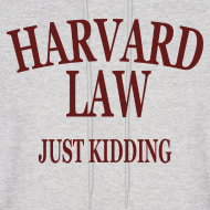 Design ~ Harvard Law Just Kidding Hoodie Hooded Sweatshirt