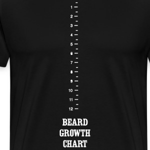 Beard Growth Chart T-Shirts - Men's Premium T-Shirt