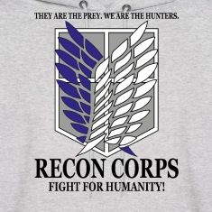 Recon Corps- Attack on Titan Hoodies