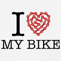 I Love My Bike Women's T-Shirts