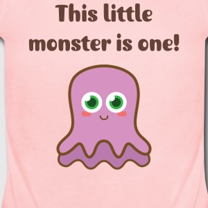 cute purple jellyish monster Baby & Toddler Shirts - Short Sleeve Baby Bodysuit