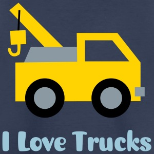 cute tow truck, land vehicle, for kids Kids' Shirts - Kids' Premium T-Shirt