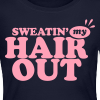 Sweatin' My Hair Out Long Sleeve Shirt - Light Type - Women's Long Sleeve Jersey T-Shirt