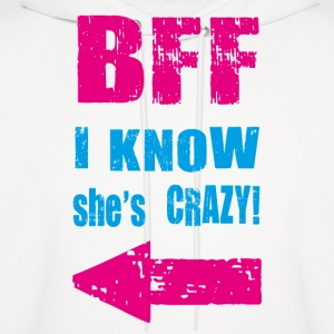 i know she is crazy Hoodies - Men's Hoodie