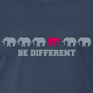 Elephants Be Different T-Shirts - Men's Premium T-Shirt