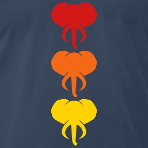 3 Elephants Design T-Shirts - Men's Premium T-Shirt