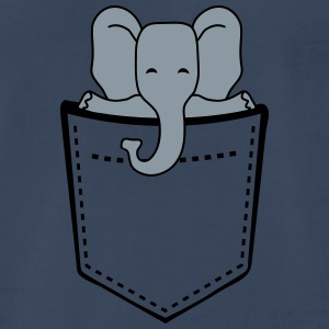 Cute Elephant Child In Breast Pocket T-Shirts - Men's Premium T-Shirt
