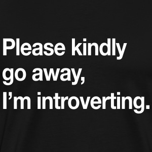 Please kindly go away, I'm introverting T-Shirts - Men's Premium T-Shirt