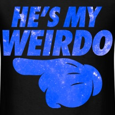 He's My Weirdo Galaxy T-Shirts