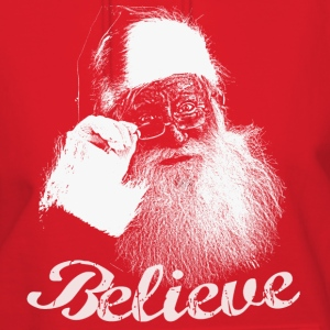 Santa Claus BELIEVE Monochrome Hooded Sweatshirt - Women's Hoodie