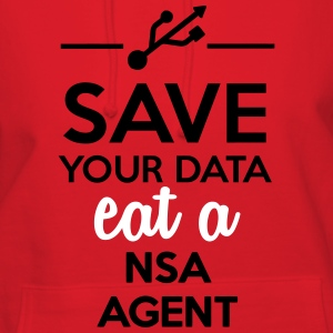 Data, Nsa satire - Save your Data eat a Nsa agent Hoodies - Women's Hoodie