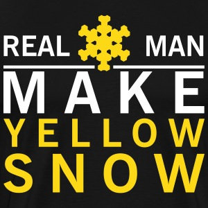 Real man make yellow snow T-Shirts - Men's Premium T-Shirt