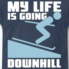 Skiing: My lie is going downhill T-Shirts