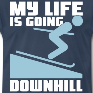 Skiing: My lie is going downhill T-Shirts - Men's Premium T-Shirt