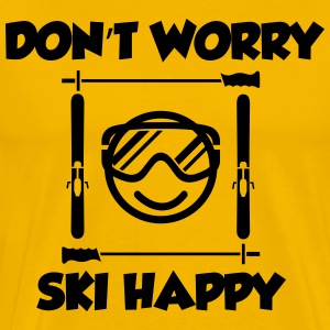 Don't worry, ski happy T-Shirts - Men's Premium T-Shirt