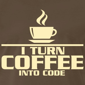 I turn coffe into code T-Shirts - Men's Premium T-Shirt
