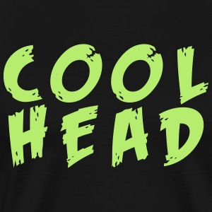 Cool Head Light Green And Black T-Shirts - Men's Premium T-Shirt