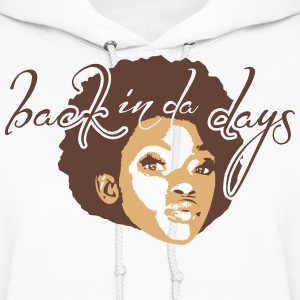 AFRO GIRL back in da days 2c_4light Hoodies - Women's Hoodie