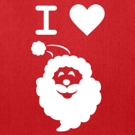 Design ~ I LOVE SANTA CLAUS - Tote Bag