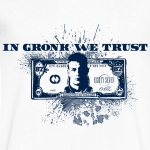 In Gronk We Trust  T-Shirts - Men's V-Neck T-Shirt by Canvas