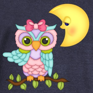 Girl Owl Long Sleeve Shirts - Women's Wideneck Sweatshirt
