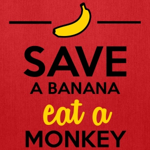 Eating monkey & bananas - Save a monkey  Bags & backpacks - Tote Bag