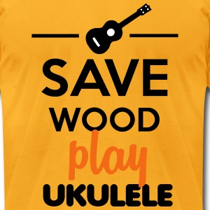 Ukulele Musical Instrument - Save Wood play ukulel T-Shirts - Men's T-Shirt by American Apparel