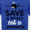 Dining - Save a whale eat a Japanese T-Shirts - Men's T-Shirt by American Apparel