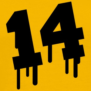 Number 14 Graffiti T-Shirts - Men's Premium T-Shirt