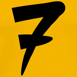 Number 7 Design T-Shirts - Men's Premium T-Shirt