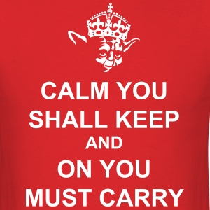 Yoda Says Keep Calm and Carry On - Men's T-Shirt