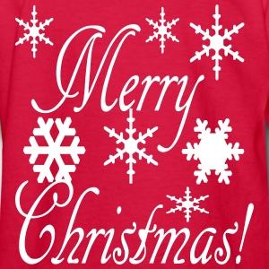 merry_christmas_snowflakes2 Kids' Shirts - Kids' Long Sleeve T-Shirt