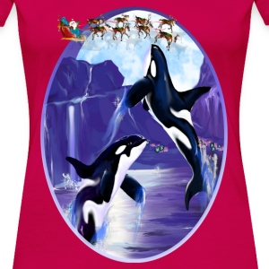 Orca Christmas Oval - Women's Premium T-Shirt