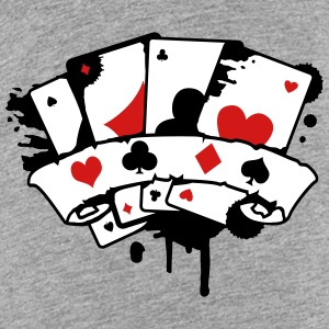 four playing cards and a banner Kids' Shirts - Kids' Premium T-Shirt