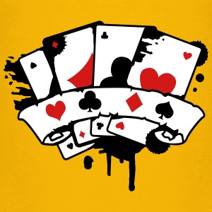 four playing cards and a banner Baby & Toddler Shirts - Toddler Premium T-Shirt