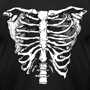 WHITE CREEPY RIB CAGE T-Shirts - Men's T-Shirt by American Apparel