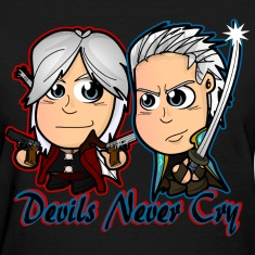 Chibi Devil May Cry - DMC Women's T-Shirts