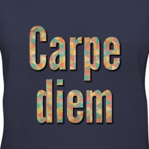 carpe diem with shadow effect Women's T-Shirts - Women's V-Neck T-Shirt