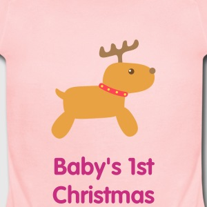 Cute Christmas reindeer Baby & Toddler Shirts - Short Sleeve Baby Bodysuit