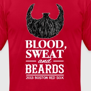 Blood, Sweat and Beards T-Shirts - Men's T-Shirt by American Apparel