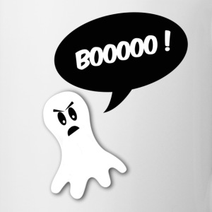 boo ! ghost black bubble Bottles & Mugs - Coffee/Tea Mug