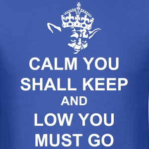 Keep Calm and Carry on with Yoda Force T-Shirts - Men's T-Shirt