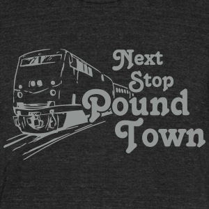 Pound Town - Unisex Tri-Blend T-Shirt by American Apparel