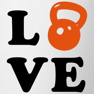 Love Kettlebell For Crossfit Bottles & Mugs - Coffee/Tea Mug