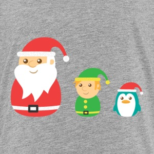 Cute Santa, Elf and penguin for Christmas Kids' Shirts - Kids' Premium T-Shirt