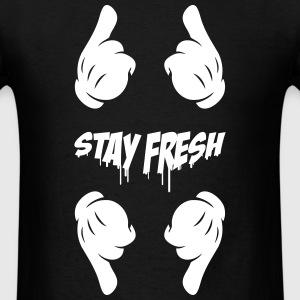 Stay Fresh, pointing gloved finger - Men's T-Shirt