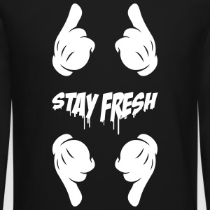 Stay Fresh, pointing gloved finger - Crewneck Sweatshirt