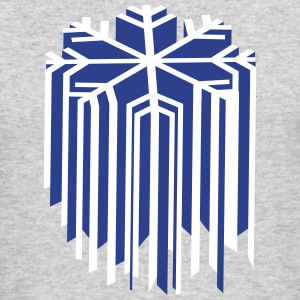 Snowflake 3D Long Sleeve Shirts - Men's Long Sleeve T-Shirt by Next Level