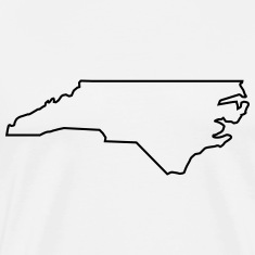 North Carolina,map,landmap,land,country,outline T-Shirts