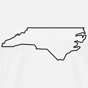 North Carolina,map,landmap,land,country,outline T-Shirts - Men's Premium T-Shirt